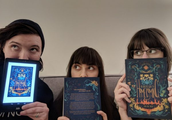 Left to Right: Avi Silver (editor), Sienna Tristen (author), Haley Szereszewski (cover designer)